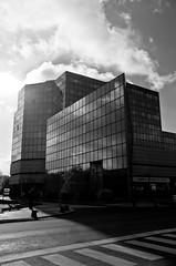 Le modernisme  la campagne (Denis Vandewalle) Tags: tour architecture bw noiretblanc black white dampierre sur salon hautesane village tower
