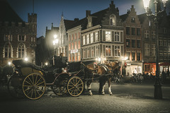 Carriage - Bruges, Belgium (Sebastian Bayer) Tags: night herbst romantisch sonnenuntergang sundown micro43 ausflug evening light omdem5ii gebude buildings stadt abend stores lamps matte people lichter autumn mft altstadt brgge historic outdoor romantic blauestunde 124028 city menschen lampen lamppost pferd olympus bruges carriage kutsche bluehour road street belgien geschichte historisch vacation trip strase omd horse belgium urlaub