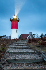 Nauset Light in the Rain (Samantha Decker) Tags: canonef1635mmf28liiusm canoneos6d capecod ma massachusetts nausetlight newengland outercape samanthadecker lighthouse