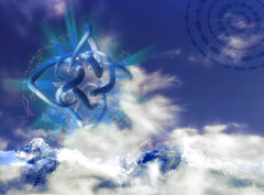 Zamran Sky Mountain (jsbanks42) Tags: fantasy tolkien progrock mountain geometry vue3d wallpaper
