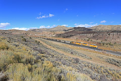 DDPU (GLC 392) Tags: colton cusipj emd sd70ace sd70ah 9037 6190 union pacific up ge ac44cw ac4400cw price ut utah mountain railroad railway train coal cloud cloudy clouds dpu vehicle outdoor locomotive