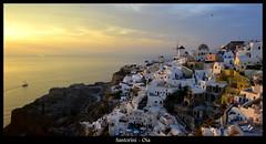 Sunset at Oia, Santorini island (Oguzhan Amsterdam) Tags: greece greek santorini oia sunset mediterranean island hellas outdoor oguzhan photography sea shore