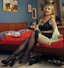 """Boudoir Pin-up"" ft. Ellie Rousou by SpirosK photography (SpirosK photography) Tags: ellierousou vintage retrosexual athens greece αθήνα ελλάδα pinup pinupphotography spiroskphotography veniaandreou alvina alvinahairstyles newskinclothes newskin elisavetlatsiou portrait boudoir stockings tights bed bedroom rousou"
