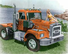 Brockway Orange Colorized (gdmey) Tags: brockway huskie colorized classictrucks