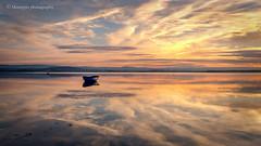 Winter sunset... (moraypix) Tags: red wintersunset minimalistic pastelcolours freezingfog fog 4c canvasprint findhornsunset findhornfog findhorn nikond750 nikon2485lens moraypixphotography jimmacbeath boat