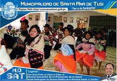 Con gran xito  se llev a cabo el dcimo encuentro de promocin de la salud Municipio Saludable 2016  en el distrito de Santa Ana de Tusi (http://www.munitusi.gob.pe/) Tags: municipio saludable 2016 santa ana de tusi goyllarisquizga vilcabamba daniel alcides carrion