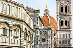 Cathdrale Santa Maria del Fiore, Florence (Voyages Lambert) Tags: cupola travel buildingexterior citylife catholicism baptistery facade basilica cross statue sculpture socialhistory belltowertower christianity religion medieval renaissance history thepast love ancient italianculture cultures famousplace architecture urbanscene outdoors horizontal campanileflorence duomosantamariadelfiore florenceitaly tuscany italy europe day marble dome cathedral church monument tower builtstructure brunelleschi