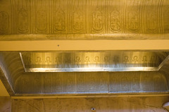 Luxor ceiling (quinn.anya) Tags: ceiling ankh luxor pyramid carvings gold hieroglyphs
