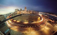 The wheel of day and night (alex notag) Tags: night day cityscape panorama 8mm fisheye marseille mucem poselongue longexposure jour et nuit