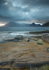 Elgol (Andrew Whitham Photography) Tags: theisleofskye elgol scotland beach mountains munro moody clouds rocks water