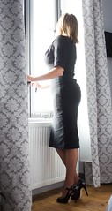 blackdress (normamisslegs) Tags: bas nylon rht stockings glamour black dress petite robe noire escarpins shoes talons hauts heels fetish legs sensuelle sensual féminité douceur boudoir french style vintage fashion élégance