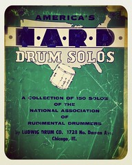 #tbt -- thankful I spent lots of time with this book as a youngster. 2 #recording #sessions in 2015 have called for this #vibe. #nard #rudiments #drummer #toolsofthetrade #drumline