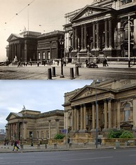 William Brown Street, 1930s and 2016 (Keithjones84) Tags: liverpool oldliverpool thenandnow history localhistory merseyside rephotography