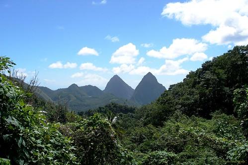 Die Pitons, St. Lucia (Karibik) - Gros and Petit Piton, die Wahrzeichen von St.Lucia
