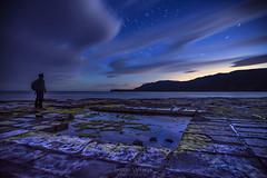 Tessellated Star Gazer (__Jase__) Tags: stargazer gazing astro startrails dusk dawn glow tessellatedpavement tasmania australia southern beach rocks rockpools reflections clouds longexposure blue selfie astronomy stars star astrophotography peninsula