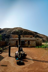"Malaiyadipatti (Olipathi Vishnu Girugam) Rock-Cut Cave Temple - Pudukottai District. (Kalai ""N"" Koyil) Tags: nikon d 5200 tokina 1116mm 18140mm 2015 olipathi vishnu girugam malaiyadipatti rockcut cavetemple pudukottai district keeranurkillukkottairoad outerview tamilnadu southindiantemple architecture kalainkoyil"