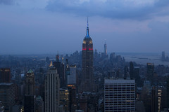 NH0A6223s (michael.soukup) Tags: newyork newyorkcity skyline manhattan empirestate worldtradecenter cityscape sunset dusk skyscraper citylights architecture midtown rockefeller 30rock tower bluehour nyc building