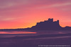 Bamburgh Castle Sunrise Silhouette (Splendid What) Tags: 2016 bamburgh bamburghcastle beach castle coast coastline december northumberland orange pink rocks sand sea sky sunrise uk