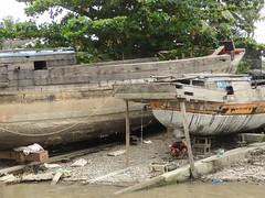 Boat work (program monkey) Tags: vietnam mekong river delta cargo boat ben tre tra vinh propellor yard fix repair build work