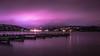 Lee's Marina (Michael Kucinski) Tags: forsale night outdoor purple landscape wate lake dock