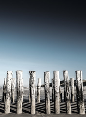 Untitled (Wouter de Bruijn) Tags: fujifilm xt1 fujinonxf14mmf28r beach landscape coast sand sky post pole wood stark paalhoofd wavebreaker breaker waves nature outdoor dutch holland netherlands nederland oostkapelle domburg