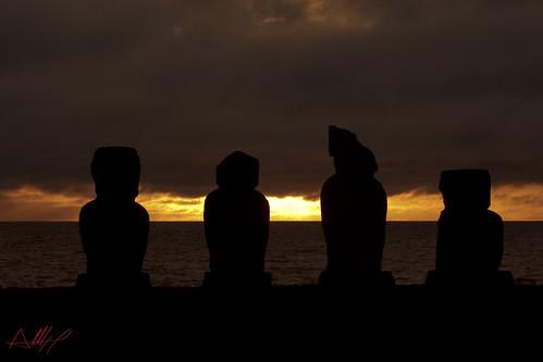Sunset Rapa Nui