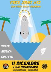Illustrazione digitale per FREE JOINT 12 - UNA FESTA DELLA MADONNA (Yelena Maria Drinkie) Tags: illustrazione illustrazionedigitale festa festadellamaddona skate graffiti musica skatepark mondragone graphic graphicdesign grap