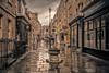 A Summers day in Bath (RayCJudd) Tags: rain mutedcolour bath avon tonal lightroom rainyday weather cloudy vanishingpoint uk shops daylight shoppers