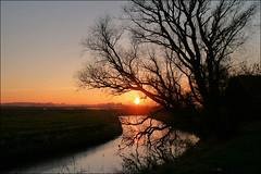 Zonsondergang Hoeksmeer (TeunisHaveman) Tags: sunset dutchlight hollandslicht geotagged geotag outdoor thenetherlands light licht dutchphoto lucht sky dutch dutchlandscape hollandslandschap landscape landschap sunlight water