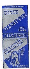 Majestic Spanish Ballroom 1940s (Michael Vance1) Tags: matchbook advertising novelty downtown oklahoma seminole matches