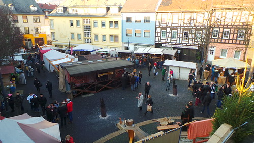 Bingen - Looking down on Xmas Market
