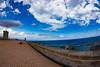 (jcl8888) Tags: spain fisheye bendy castle ocean nikon brick clouds old 1017mm tokina barcelona history