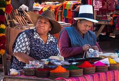 Pisac Market (kate willmer) Tags: women hat clothes dyes market craft colours cloths pisac peru