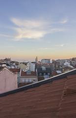 _MG_0027 (Arthur Pontes) Tags: graça claraboia janela lisboa cidade vista city pantãonacional pateão telhas telhado casa bairro freguesia núvens sunset orange azul