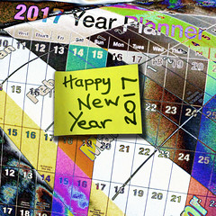 Waiting to be planned (Lemon~art) Tags: calendar wallplanner hope anticipation dreams newyear new 2017 thankyou thingstodo happy photocomposite manipulation promise