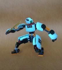 Red Neck 01 (JPascal) Tags: robot lego samurai mech