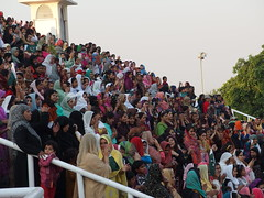 "Women @ Spectators @ ""Lowering of the flag"" ceremony @ Wagah Border @ Pakistan"