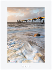 Clevedon Light (Scott Howse) Tags: uk light sunset england cloud sun water coast pier nikon dusk tide somerset severn nikkor backwash clevedon bristolchannel leefilters 06nd 09gnd 1635mmf4 d800e