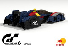 Red Bull X2010 Concept Racer (Grand Turismo 6) (lego911) Tags: auto red game car race computer one model lego render grand f1 bull gamer formula concept turismo playstation rb challenge 73 cad racer lugnuts povray gt6 84 moc ldd gt5 miniland takeittothenextlevel lego911 2010x x2010 lugnutsturns7or49indogyears
