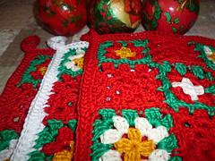 Christmas Potholders (Vecilija's Corner) Tags: christmas vintage handmade crochet belgrade christmasdecor christmastime potholders heklanje christmaspotholder