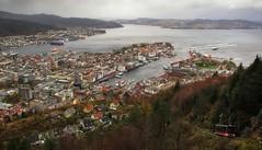 God dag! (CNorthExplores) Tags: city travel autumn norway canon bergen g11 fløibanen explored mountfløyen