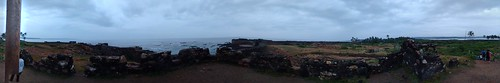 Panoramic view from a 'buruz' at Sindhudurg Fort
