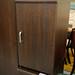Walnut single door locker
