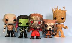 Guardians of the Galaxy Funko Pop! (FranMoff) Tags: toys bobblehead drax funko groot gamora starlord draxthedestroyer guardiansofthegalaxy rocketraccoon funkopop