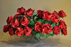 Roses by Toshikazu Kawasaki, folded by me (marcinorigami) Tags: art rose origami toshikazukawasaki marcinpajda
