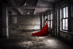 The Lady In Red (timstacks95) Tags: haunting lyrictheatre flypaper topazlabs topazremask lyricbham topazimpression