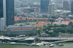 Merlion Park From The Top Of Marina Bay Sands (a.rutherford1) Tags: city urban digital hotel nikon singapore asia forsale casino 5star d300 republicofsingapore marinabaysands tropicall fnumberf9 modelnikond300 exposuretime1400sec photosfromflickrgmailcom lens2470mmf2828 isospeedratings200