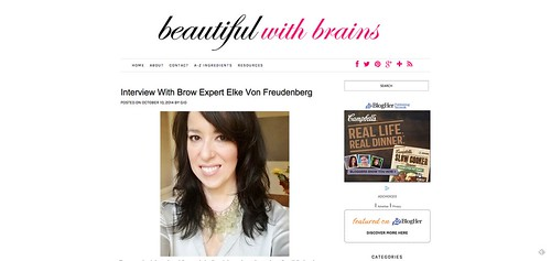 "Interview With Brow Expert Elke Von Freudenberg   beautifulwithbrains.com • <a style=""font-size:0.8em;"" href=""http://www.flickr.com/photos/13938120@N00/15318285330/"" target=""_blank"">View on Flickr</a>"