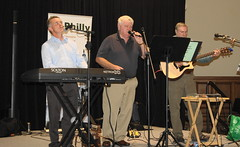 Vince Gallagher and his band, including Pat Kildea