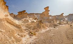 limestone canyon - western deserts of qatar 2 (Russell Scott Images) Tags: qatar desert limestone russellscottimages